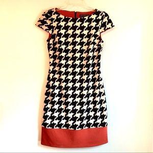 Jessica Howard Houndstooth Dress Size 6